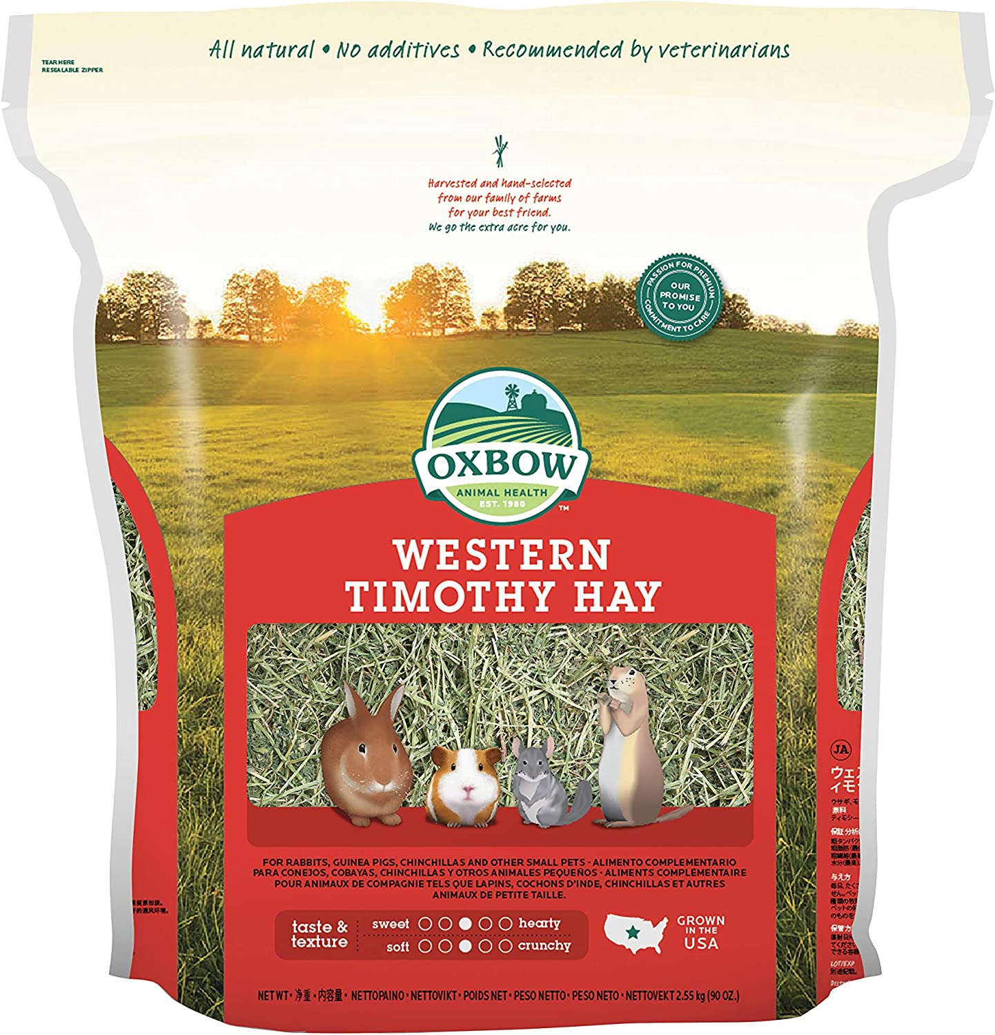 B006AYMMRY Oxbow Animal Health Western Timothy Hay For Pets, 90-Ounce 81K8ScHyNgL