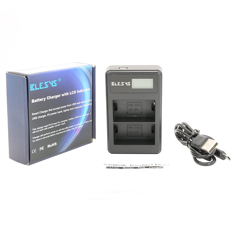 BLESYS doble canal Canon LC- E6E LC-E6 Reemplazo cargador ...