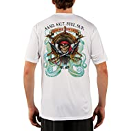 SAND.SALT.SURF.SUN. Pirate Octopus Men's UPF 50+ Short Sleeve T-Shirt