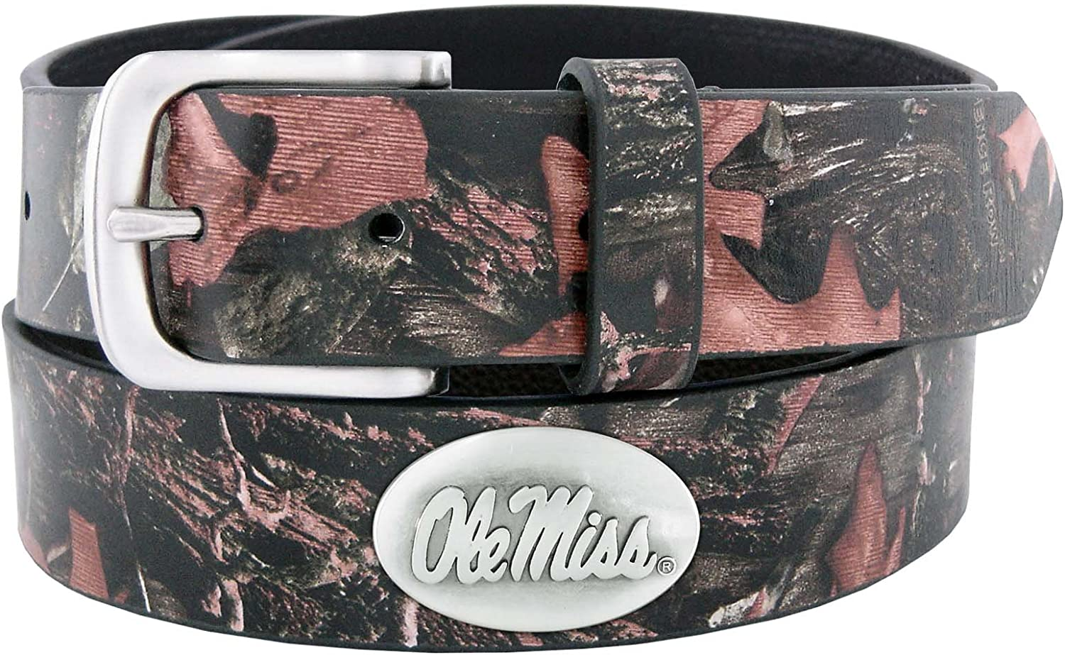 NCAA Mississippi Old Miss Rebels Zep-Pro Leather Concho Belt