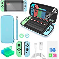 Switch Accessories Bundle - 12 in 1 Protection Kits Compatible with Nintendo Switch for Animal Crossing with Switch…