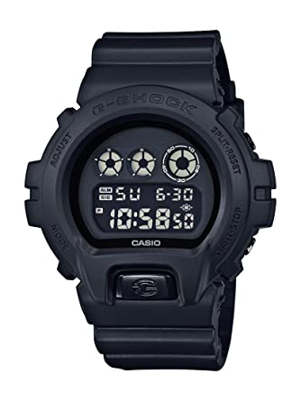 amazon com casio g shock men s black out basic series all black casio g shock men s black out basic series all black resin watch dw6900bb 1