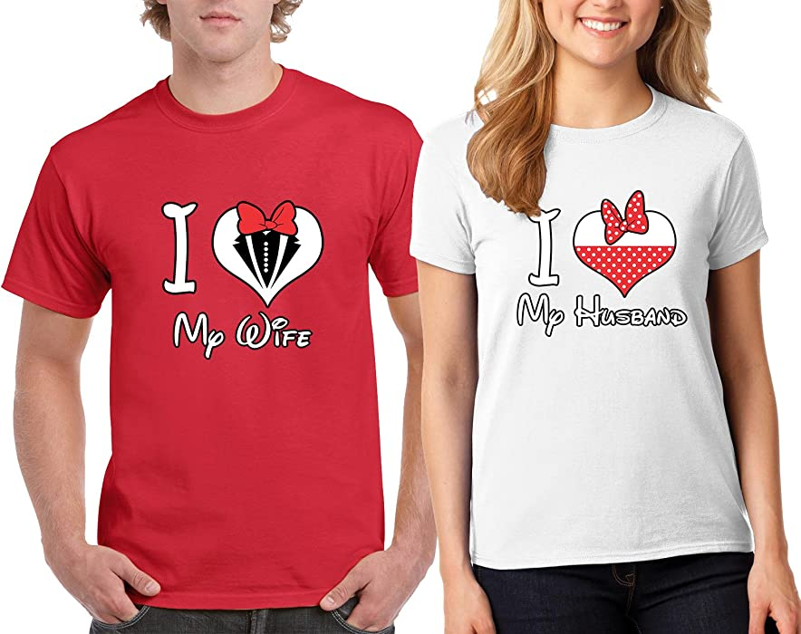 e9d942b16d Valentine's Day Special I Love My Wife Husband Couple T-Shirts Tee Shirts 1(