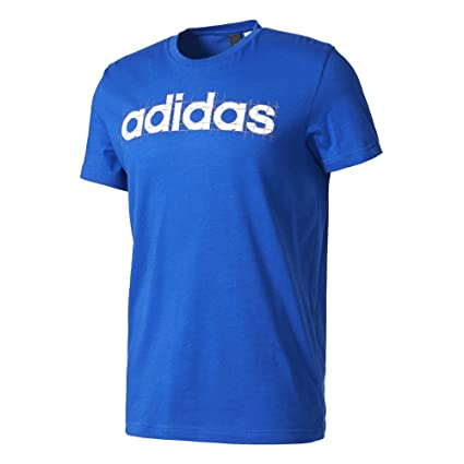 Adidas Linear Camiseta, Hombre, Azul (Reauni), S
