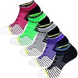 Aaronano 5 Pairs Women Half Cushioned Terry Athletic Running Socks Size (4-7 UK/35-39 EU)