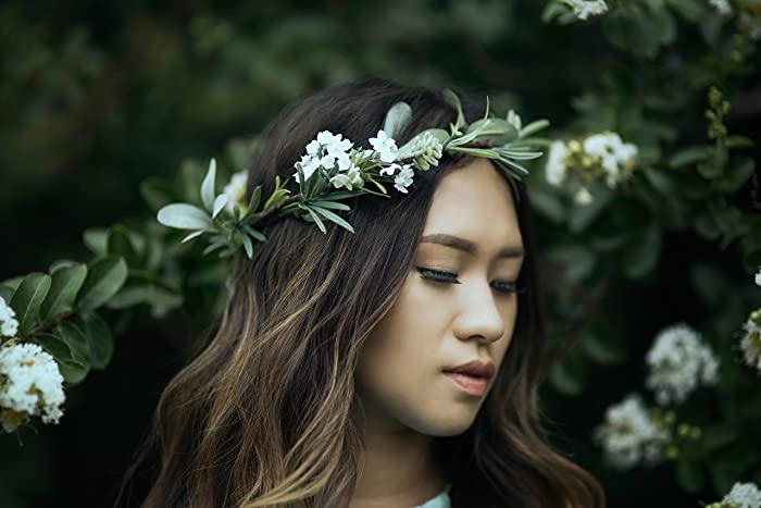 Amazon.com  Green Flower Crown. Greenery Flower Crown. Green Bridal Crown.  Green wedding crown. Flower Crown. Wedding crown.  Handmade 6d1e167d1dd