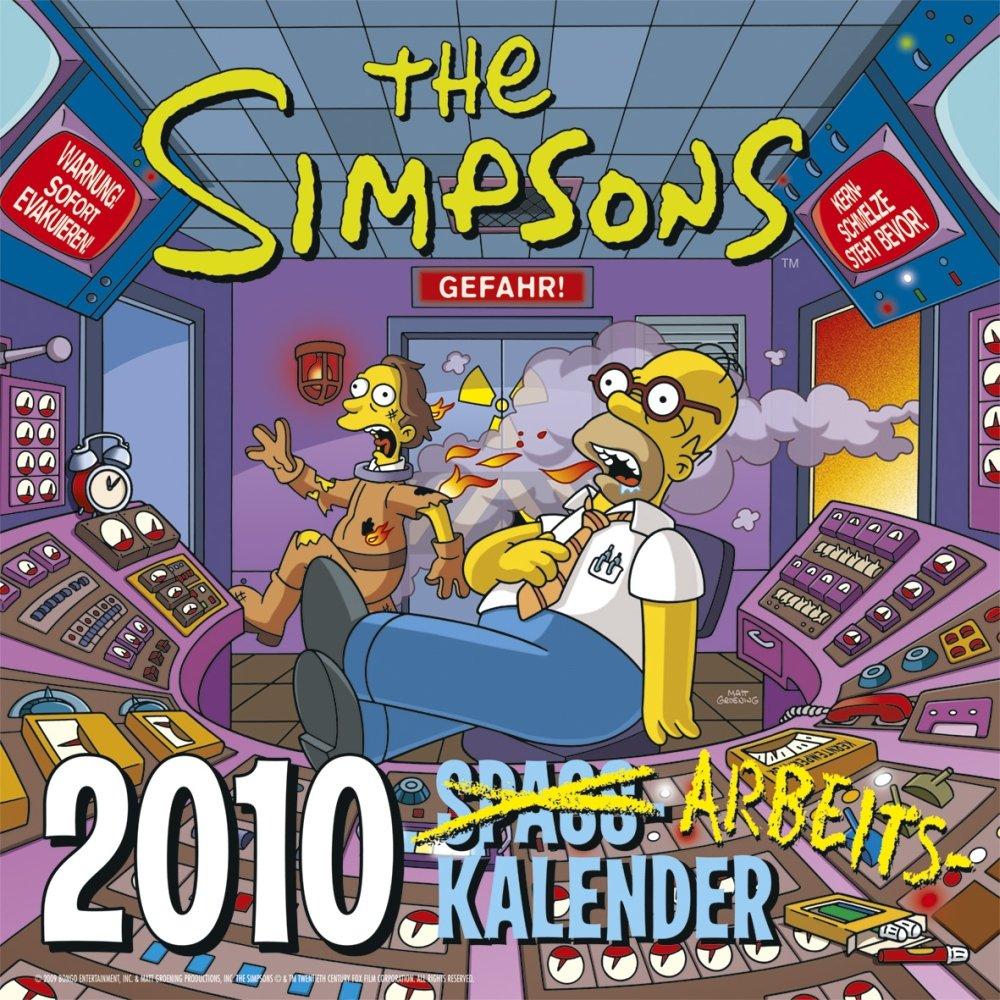 Simpsons Spaßkalender 2010: Wandkalender