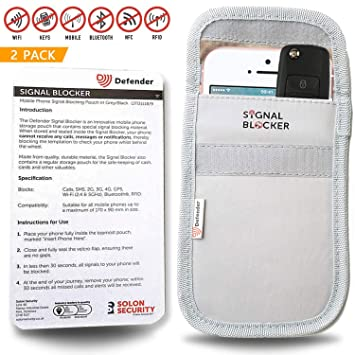 Defender Signal Blocking Pouch RFID - Phone Case Signal Blocking Device -  Car Key Signal Blocker Pouch Security Case - Signal Blocking Wallet For Car
