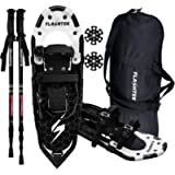 FLASHTEK Lightweight Snowshoes for Men Women Youth, Aluminum Terrain Snow Shoes for Hiking and Heel Lift Riser for…