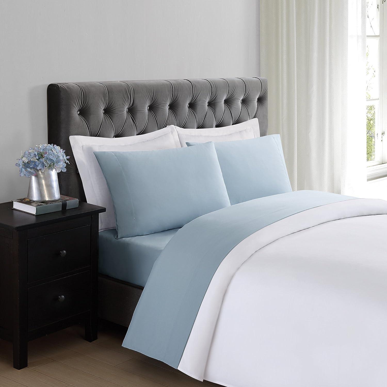 Truly Soft Everyday Light Blue King Sheet Set Home Kitchen Amazon Com
