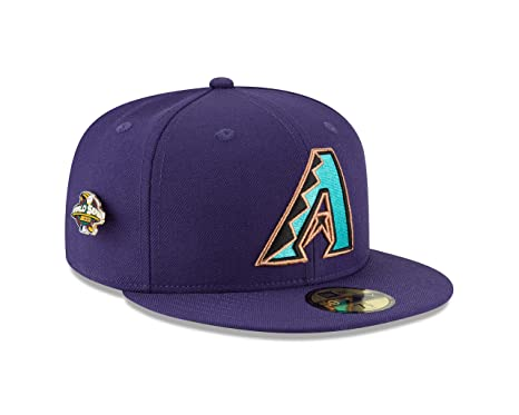 new arrival 74782 1a84b New Era Arizona Diamondbacks World Series Pin 2001 Champions Fitted 59Fifty  MLB Hat (7 5