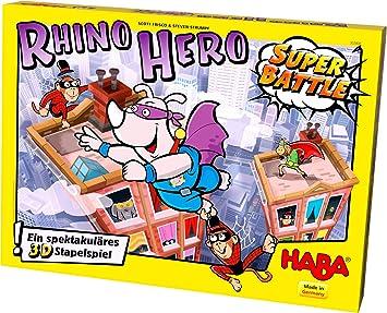 HABA 302808 - Juego de construcción Rhino Hero - Super Battle ...