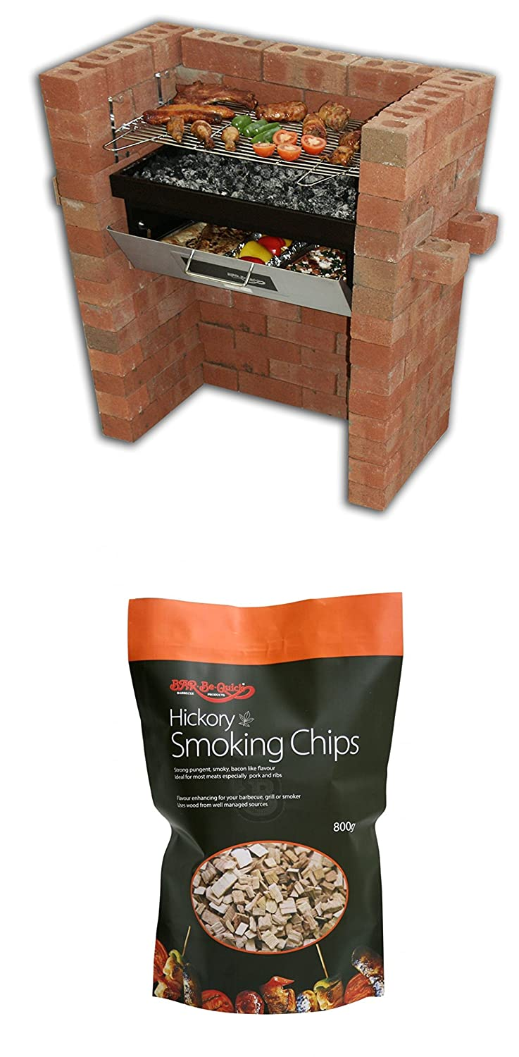 The Original Bar-Be-Quick Build In Grill & Bake + Free pack of Hickory Smoking Chips