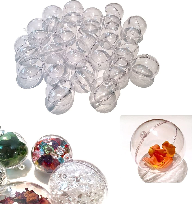 teilbar Acrylkugel Plastikkugeln Kunststoffkugeln Acrylkugeln 8 cm 12 Stk