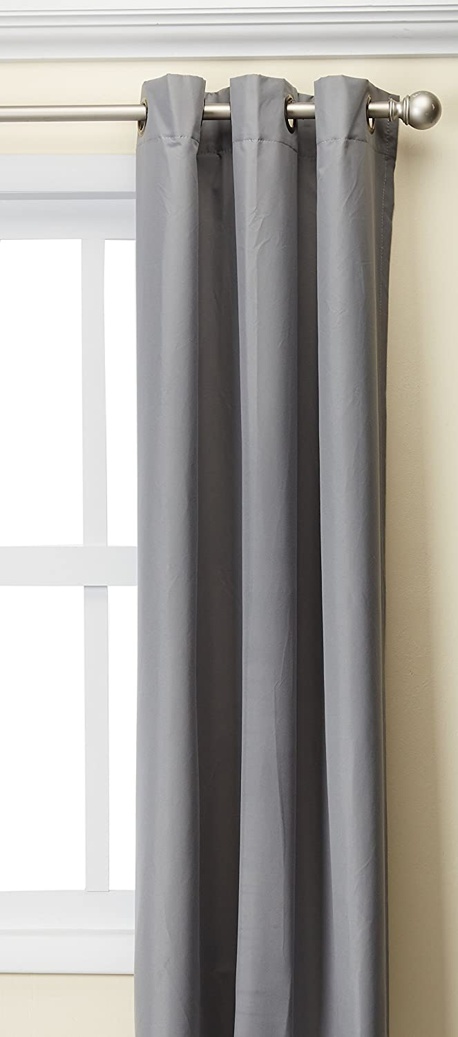 Madison Park Aiden 100% Polyester Grommet Top Energy Saving Panel Grey 42x63