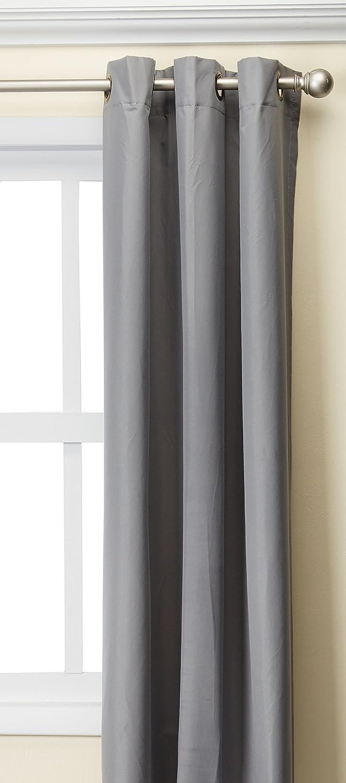Madison Park Aiden 100% Polyester Grommet Top Energy Saving Panel Grey 42x63