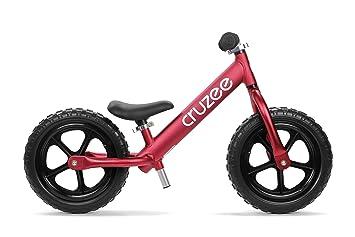 CRUZEE 12 - Nuevo 2018 - Ruedas negras - Bicicleta de equilibrio ultraligera (1,