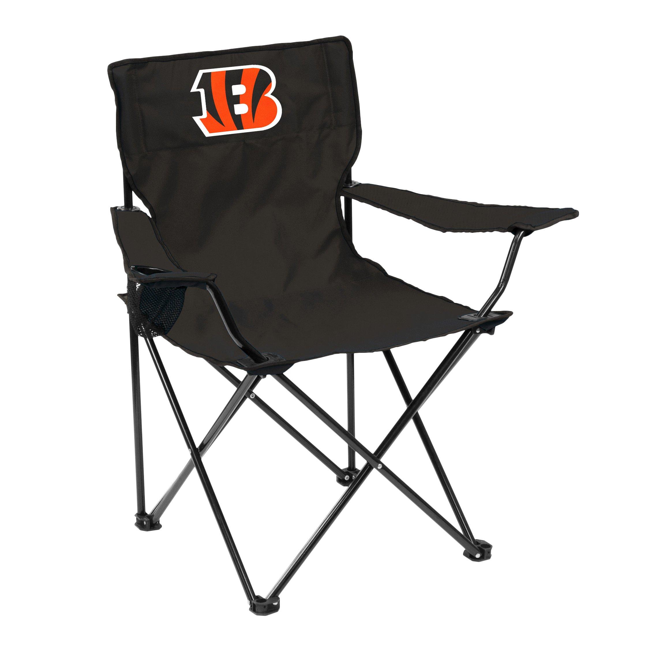 Logo Brands 607-13Q NFL Cincinnati Bengals Quad Chair, One Size, Black