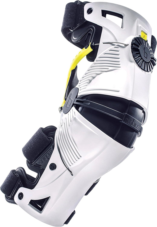 Mobius X8 - Rodillera (talla XXS), color blanco/amarillo
