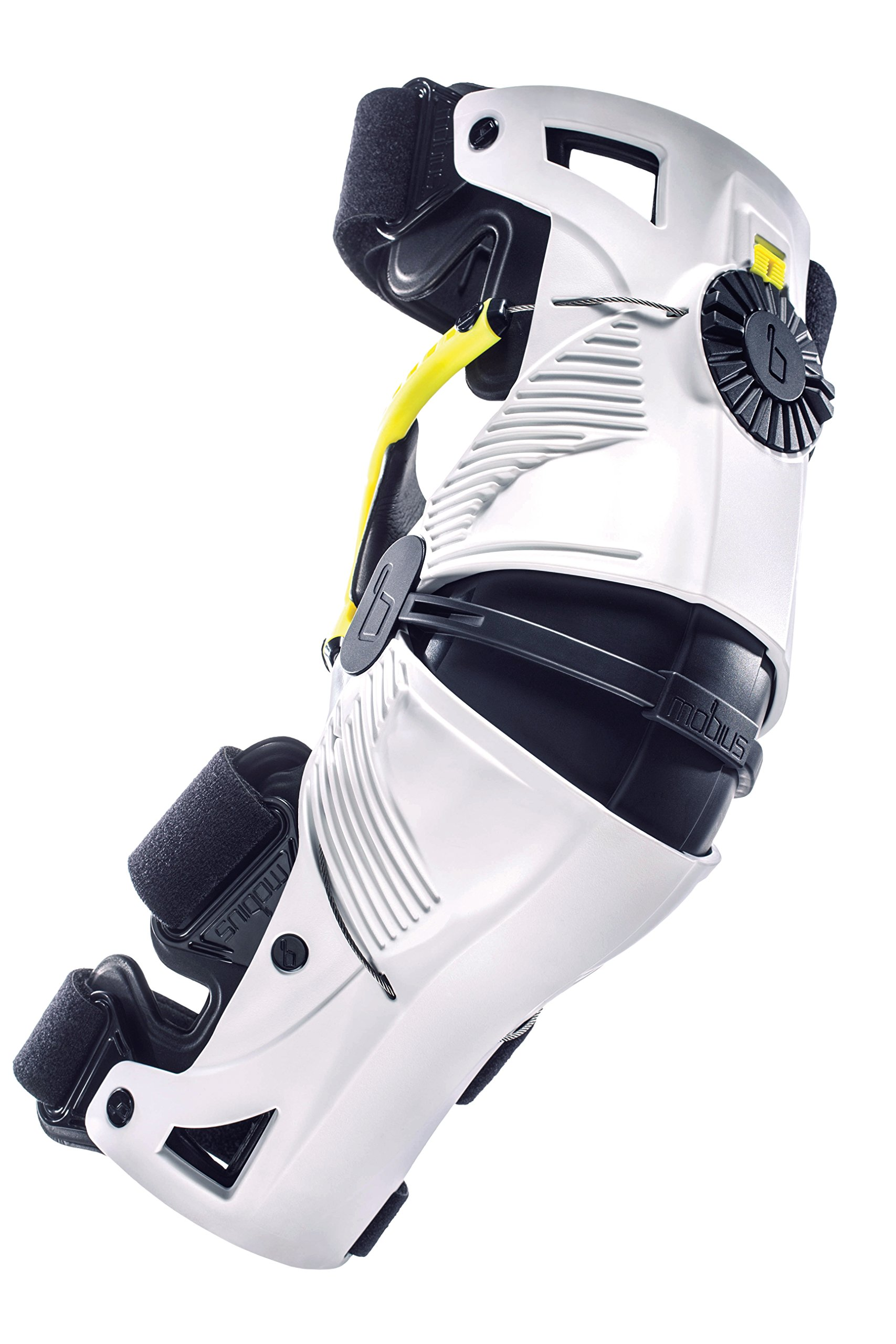 Mobius X8 Knee Pad, White/Yellow, Size XS