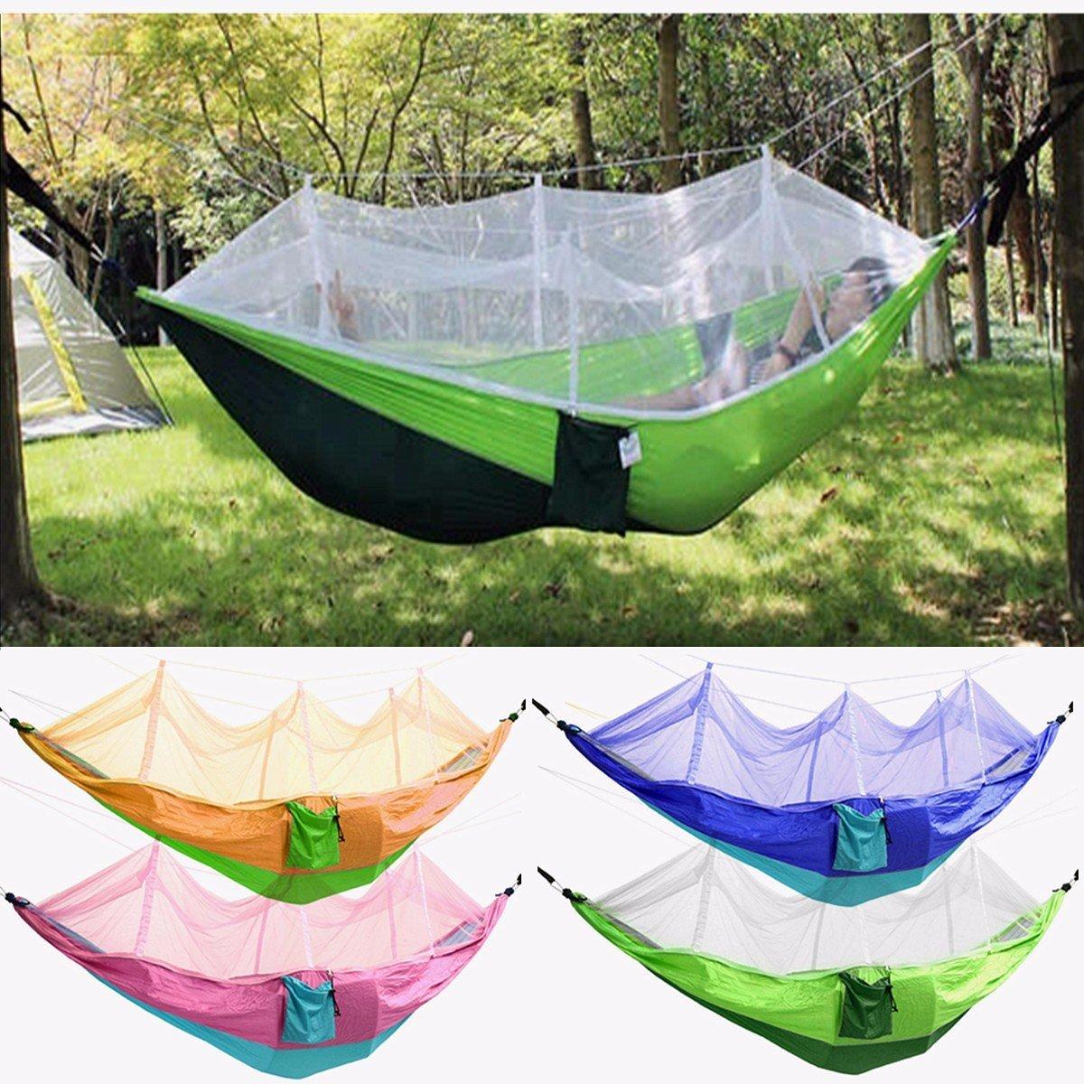 Bazaar Außenmoskitonetz Doppelhängematte Hängen Swing Beds Parachute Nylon Für Camping Reisen
