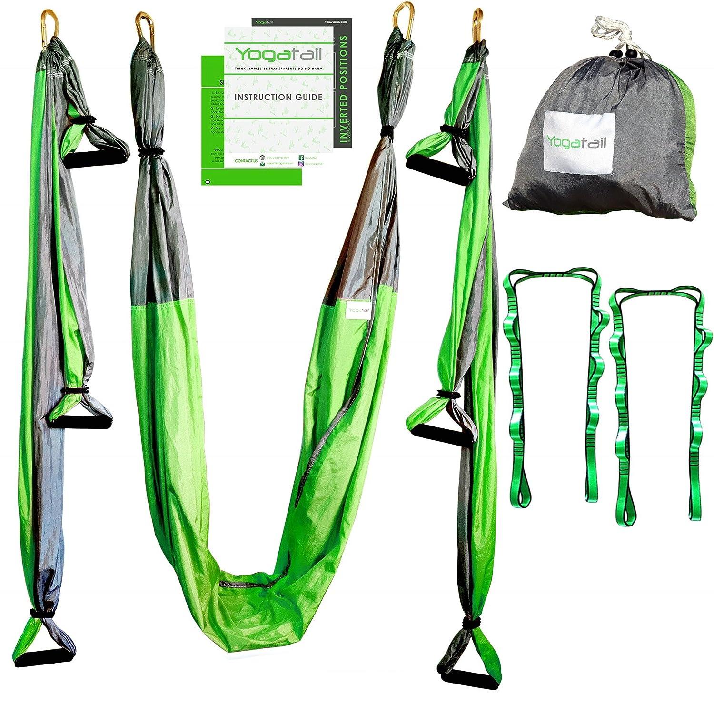 Amazon xmas promo witlucky aerial yoga hammock yoga trapeze aerial yoga swing gym strength antigravity yoga hammock inversion trapeze sling exercise equipment with fandeluxe Choice Image