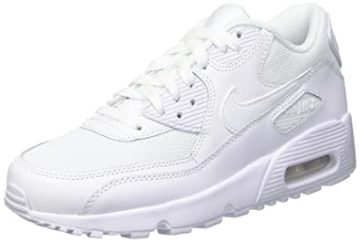 info for 58f42 34796 Nike Air Max 90 Mesh (GS), Baskets garçon, Blanc Cassé (Bianco White), 35.5  EU  Amazon.fr  Chaussures et Sacs