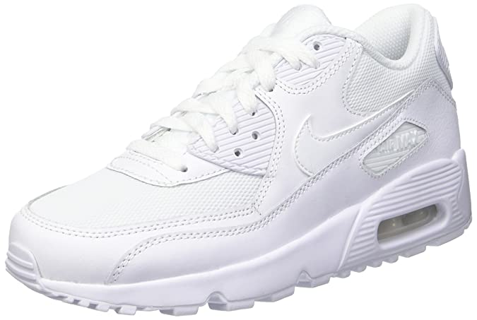Nike Air Max 90 Leather Gs Scarpa da bambino bianco