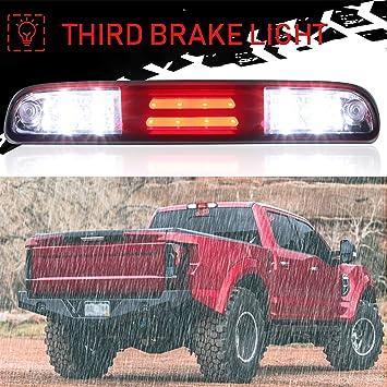 Black 3D 3rd Third Brake Light Cargo Light LED Light Bar High Mount Lamp Stop Tail Light Compatible with Ford F250 F350 F450 F550 Super Duty//Ranger//Explorer Sport//Mazda B-Series