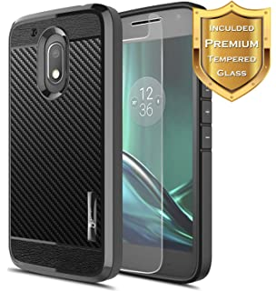 Moto G4 Play Case With [Tempered Glass Screen Protector], NageBee [Frost  Clear