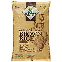 24 Mantra Organic Sonamasuri Raw Rice Brown Organic, 2kg