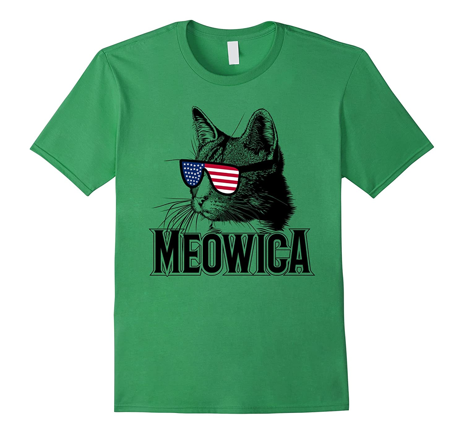 Meowica July 4th Funny Cat T-shirt-Teevkd
