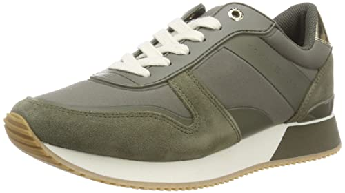 new product f5b56 49821 Tommy Hilfiger Damen Mixed Material Lifestyle Sneaker