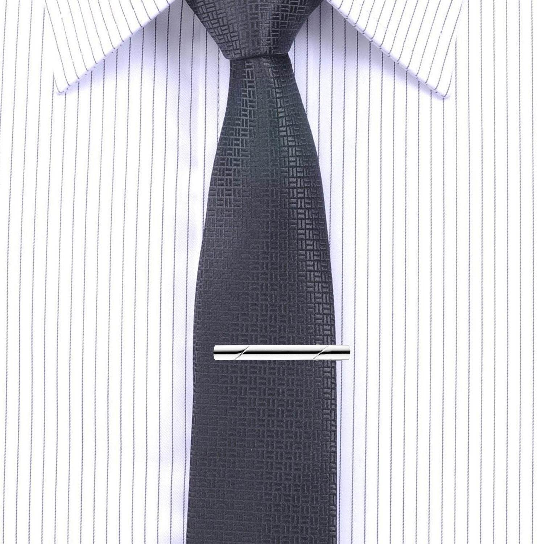 KOBWA 5 clips para corbata de hombre, con clip para corbata ...
