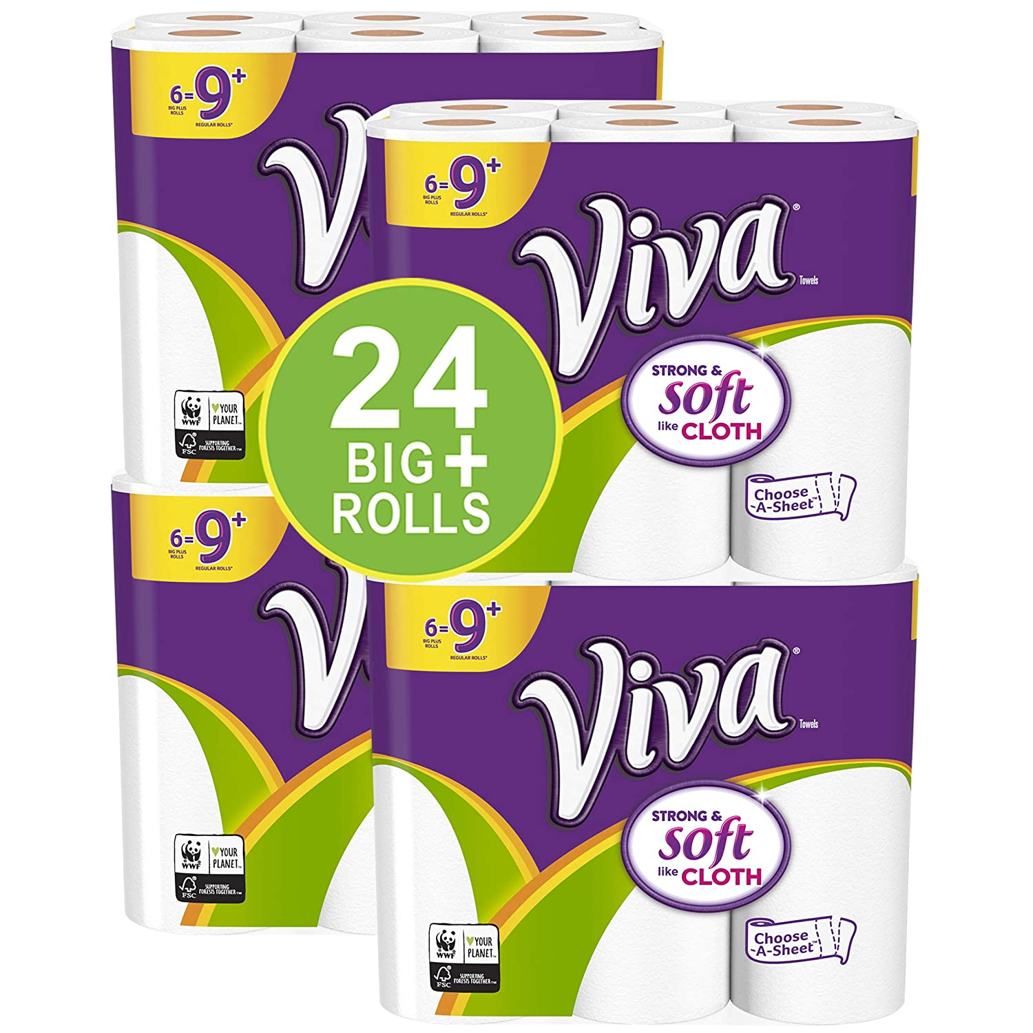 VIVA Choose-A-Sheet* Paper Towels, White, Big Plus Roll, 24 Count Kimberly-Clark Corp. 10036000470434