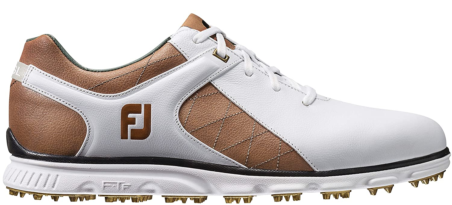 FootJoy Men's Pro/SL Golf Shoes B072N6T3GL 11 W US White/Taupe
