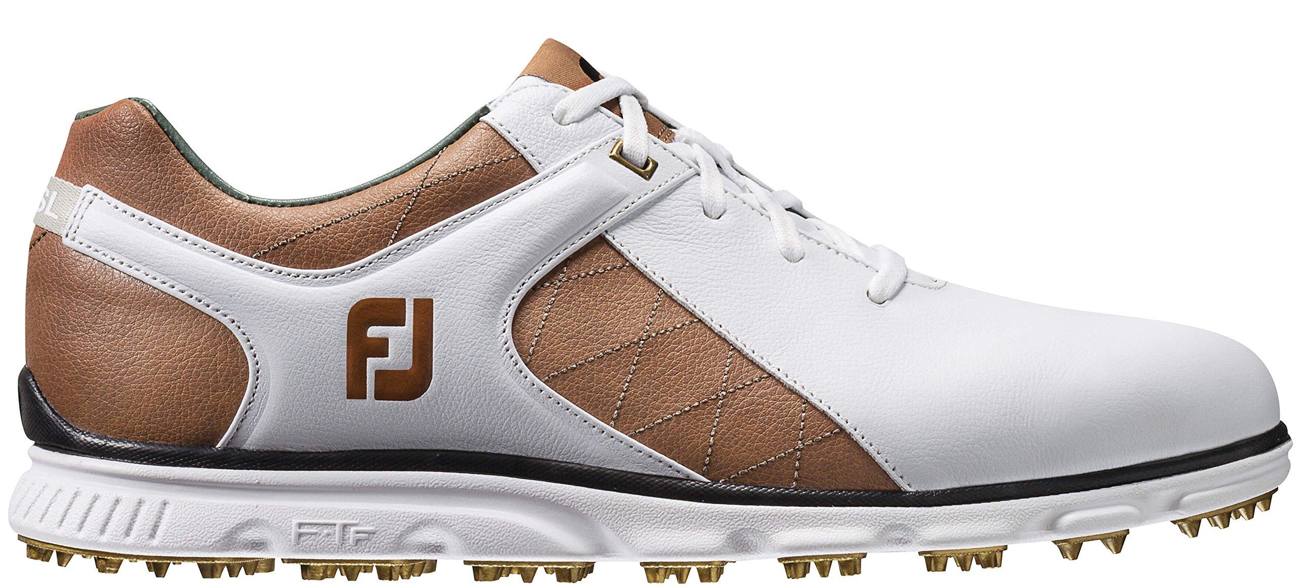 FootJoy Men's Pro/SL-Previous Season Style Golf Shoes White 7.5 W Tan, US