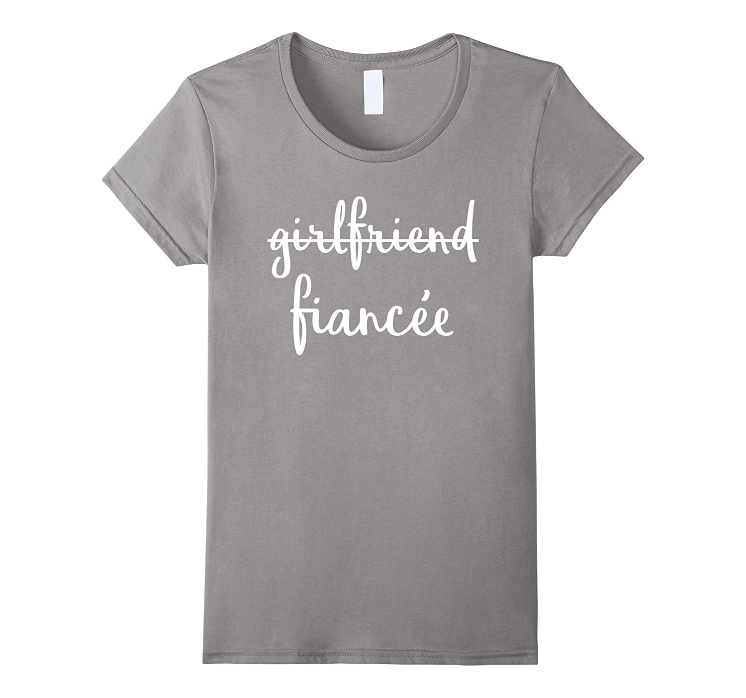 Womens Girlfriend Fiancee T Shirt, Fiance Engagement Party Tshirt-ah my shirt one gift
