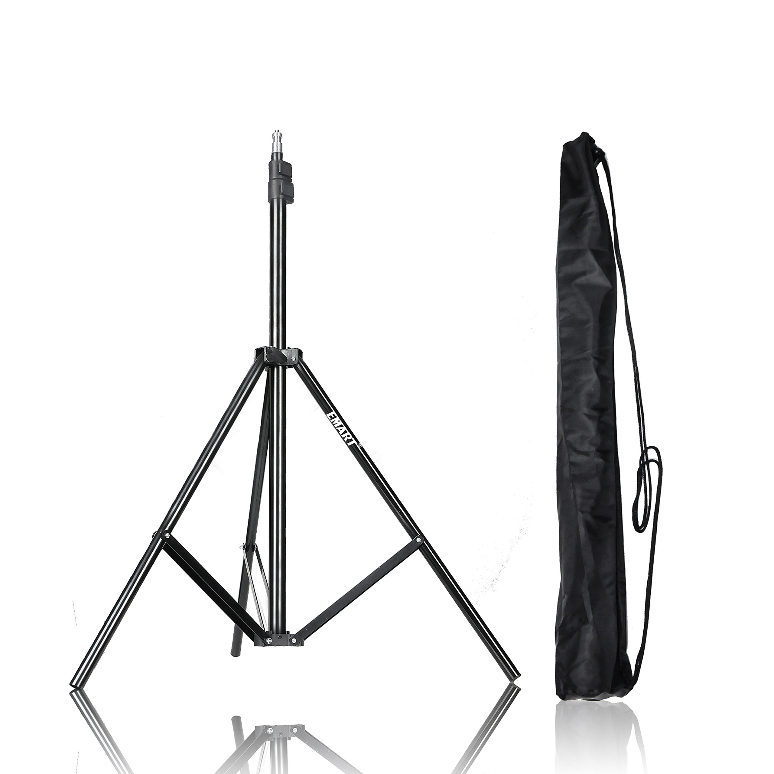 Emart 83 inch/7feet/210cm Photography Photo Studio Light Stand for Video Lighting, Softbox, Umbrella, Ring Light, Camera, Flash, Carry Case Include