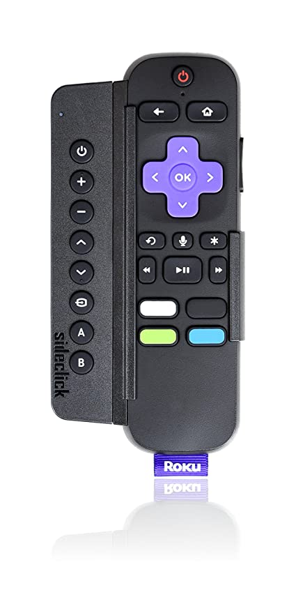 Sideclick Universal Remote Attachment for Roku streaming player
