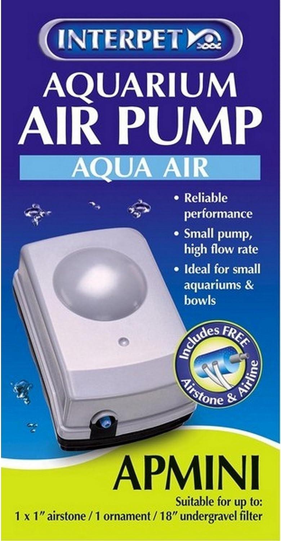 UK Plug Interpet Limited APMini Aquarium Air Pump