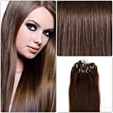 R-EXTENSIONS EXTENSIONS DE CHEVEUX NATURELS 50CM POSE A FROID EASY LOOP CHATAIN CHOCOLAT #4