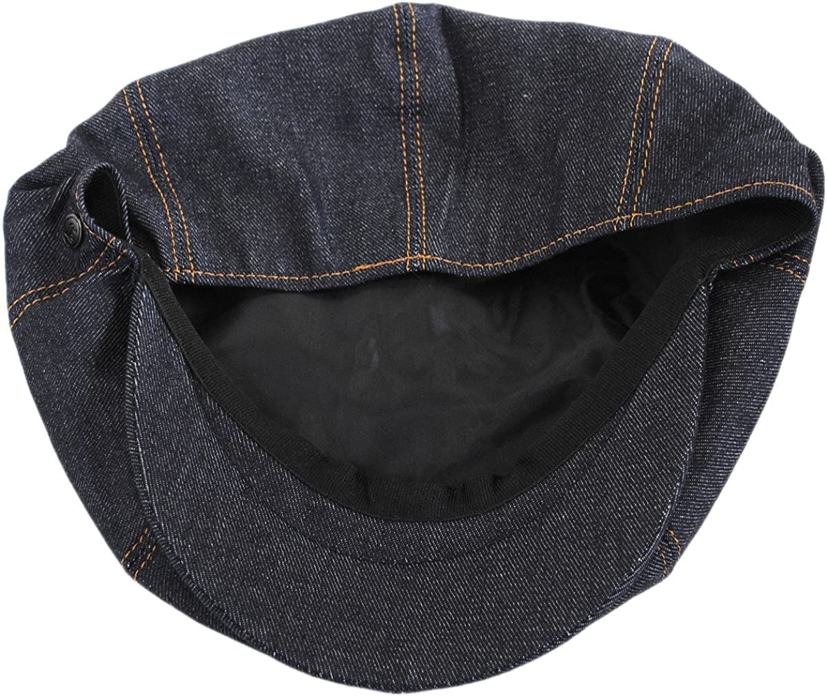 Jaxon Denim Cotton Newsboy Cap