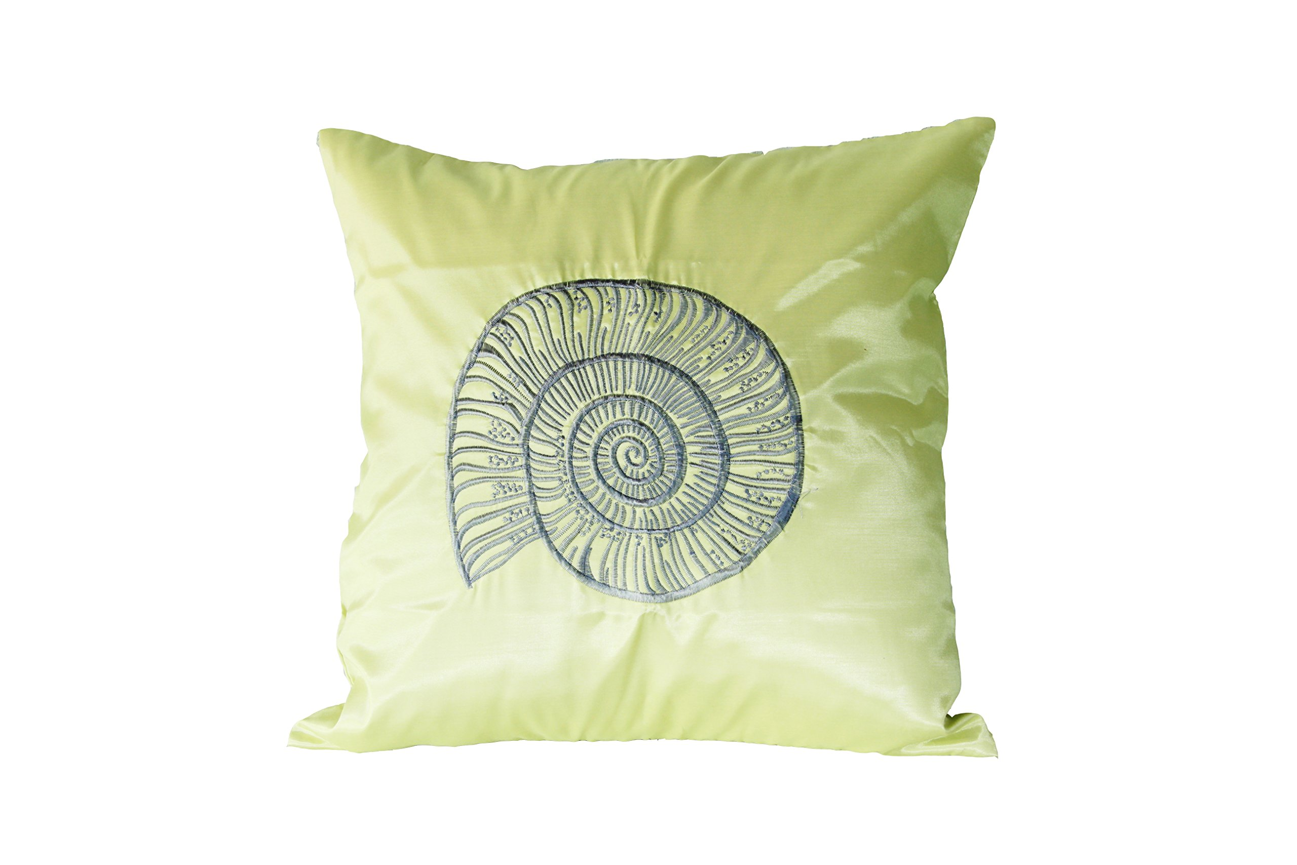 Lotus House Olive Silk Pillowcase - Sea Collection (1, Olive - Sea)