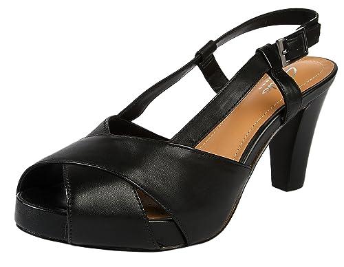 281185e1cd2c3 Clarks Women s Selena Jill Black Fashion Sandals - 8 UK  Buy Online ...