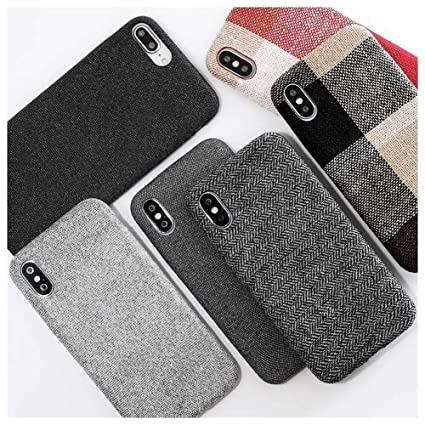 promo code 10215 5aefe Mixneer Compatible for iPhone 7 Plus/iPhone 8 Plus Case, Cloth Texture Soft  TPU case Ultra-thinCasesFiber Matte Frosted Soft TPU Silicone Case for ...