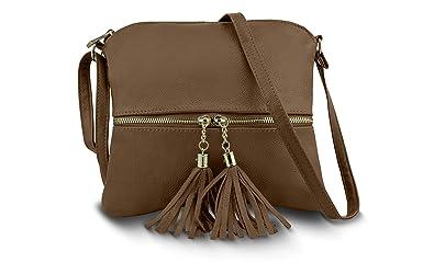 73b86b7a841e Genuine Leather Soft Shoulder Crossbody Handbag Sling Purse with ...