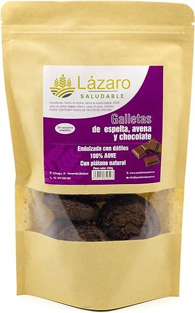 Lázaro - Galletas de Avena, Espelta y Chocolate, 200 g: Amazon.es ...