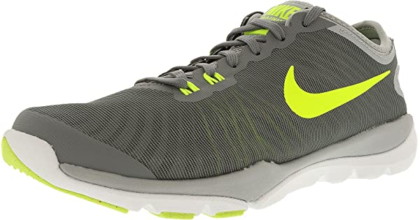 a5c5705f8d540 Nike Womens Flex Supreme Tr 4 Cool Grey Volt-Wolf Grey-Pure Platinum  Ankle-High Cross Trainer Shoe - 8W