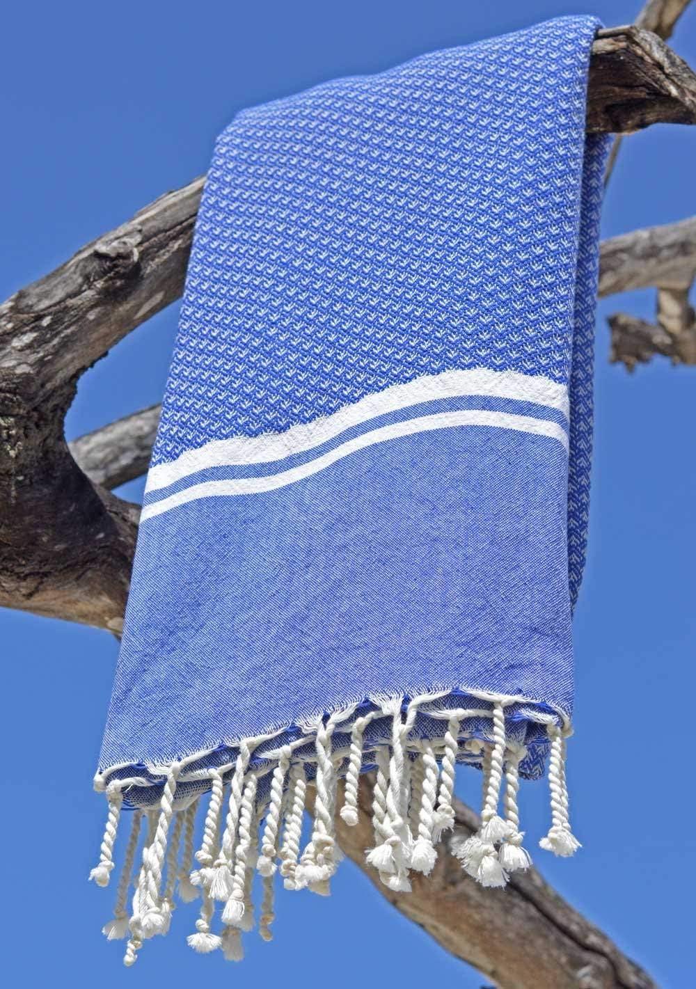 Foutas Design Unique de Drap de Hammam Sauna Serviette de Plage 100/% Coton de Grande Qualit/é ZusenZomer Fouta de Plage XXL SOUSSE 100x190 cm Rose